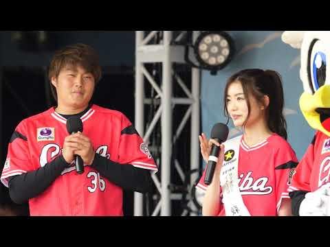 べっぴんさん 蜂谷晏海さん有吉投手から始球式に向け指導を受ける