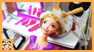 바비 인형놀이 드라마 미용실 놀이 일상 밀착 중계 ! 공주 장난감 놀이 헤어 가게놀이  Doll Hair shop Morning Routine | 보라미TV