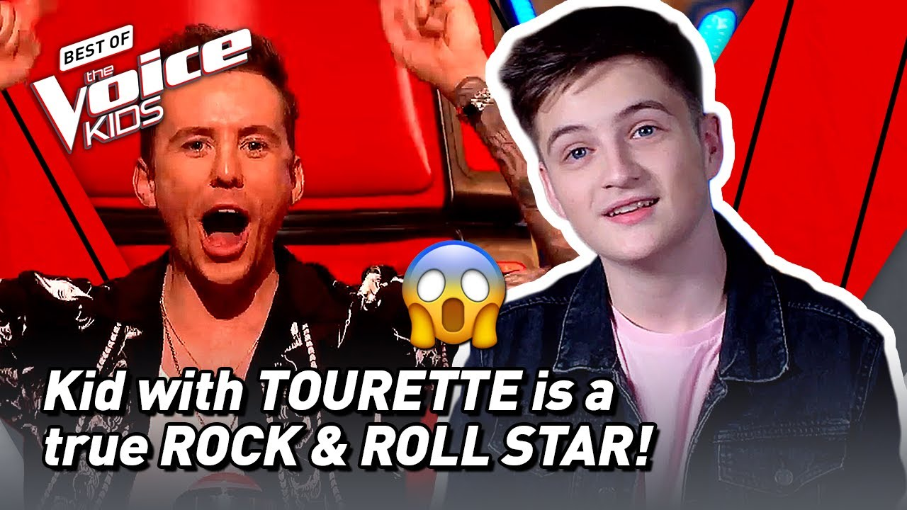 Kid with TOURETTE SYNDROME blows the coaches away in The Voice Kids! 😱 | The Voice Stage #55