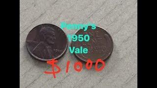 Centavo de 1950 vale asta $1000