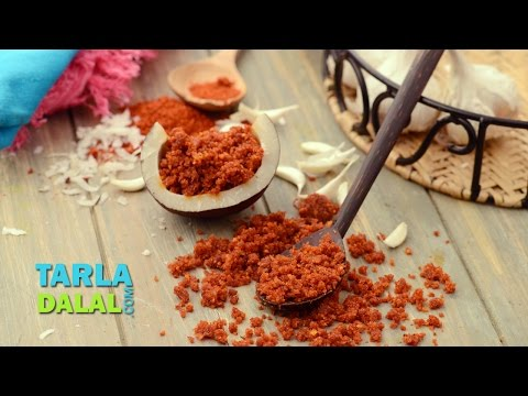 Dry Red Garlic Chutney by Tarla Dalal