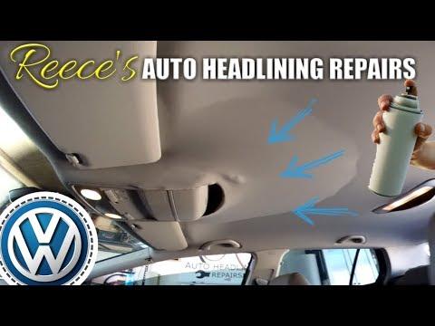 VW Golf Roof Lining Falling Down FIX — VOLKSWAGEN Headliner Repair