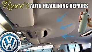 VW Golf Roof Lining Falling Down FIX -- VOLKSWAGEN Headliner Repair
