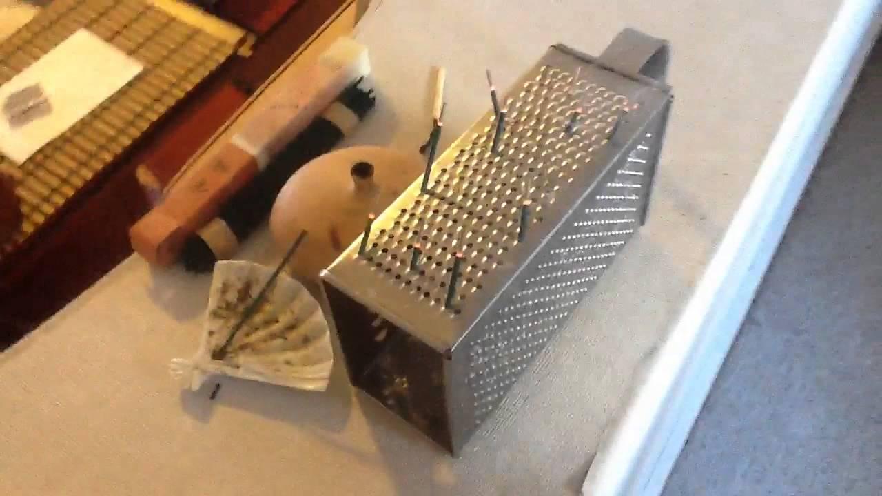 DIY incense stick holder. For broken sticks. - YouTube