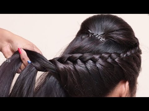 Easy Braided Hairstyle For Wedding Party Hairstyles For Girls Hair Style Girl Hairstyles Youtube