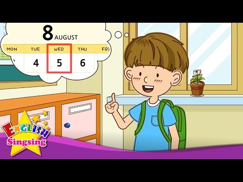 [Day] What day is it today? It's Wednesday. Easy Dialogue - English video for Kids