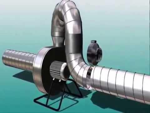 Работа канального вентилятора