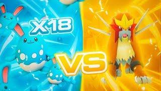 Se puede ganar a ENTEI con TODO AZUMARILL en Pokémon GO!? Hazañas Épicas #1 [Keibron]