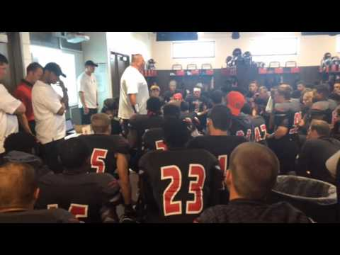 Davenport football coach delivers his first pregame speech