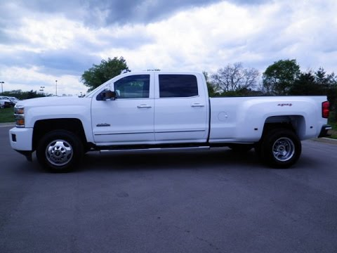 Chevy High Country White >> 2015 CHEVROLET SILVERADO 3500HD HIGH COUNTRY DUAL REAR WHEEL 4X4 DURAMAX CREW CAB 855-507-8520 ...