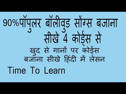 Play Most of Songs in 1-6-4-5 chords Progression Piano tutorial in Hindi Teach Yourself Piano