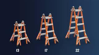 Werner Ladder - Fiberglass Multi-Purpose Ladder