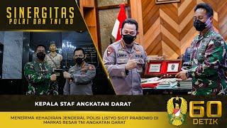 Kasad Menerima Kehadiran Jenderal Polisi Listyo Sigit Prabowo di Mabesad
