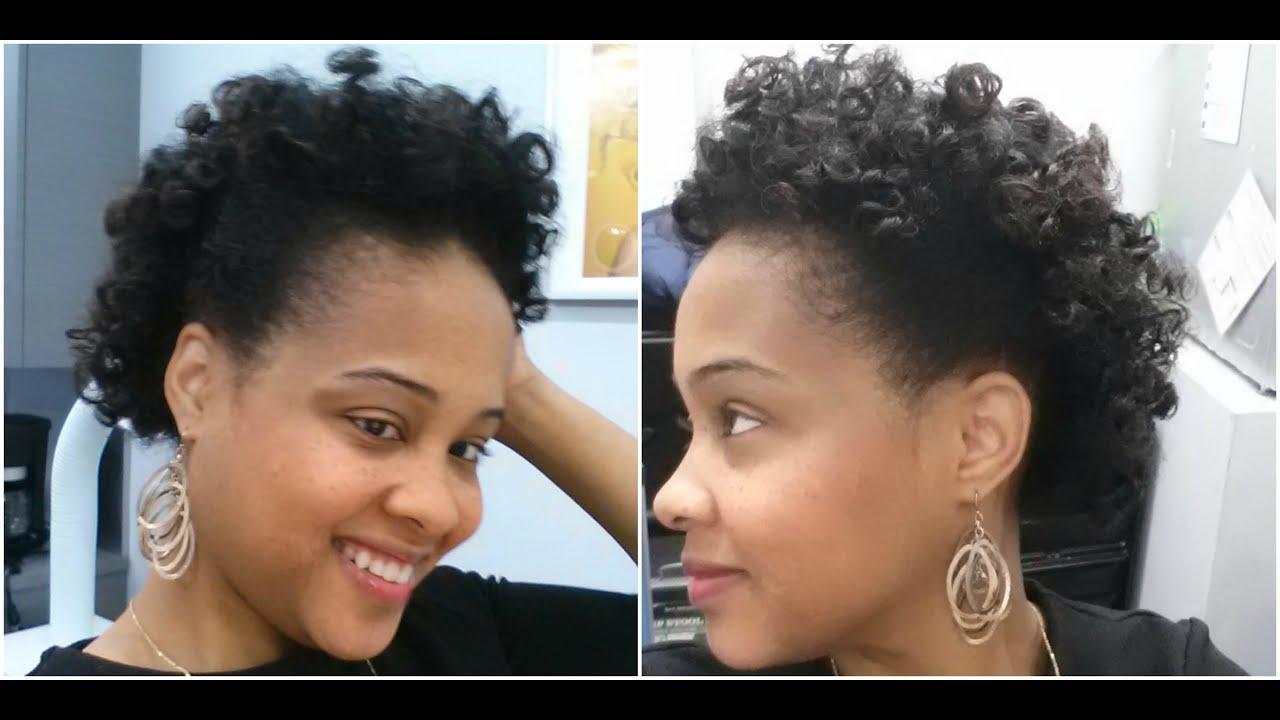 Bantu Knots Hair Tutorial on Transitioning Hair ✿ Short Natural