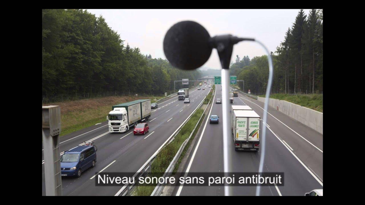 Bruit D Autoroute Avec Sans Paroi Antibruit Youtube