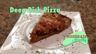 Low Carb Deep Dish Pizza, Almond Flour Crust