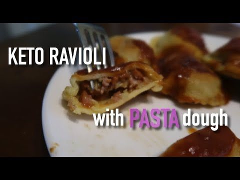 Low carb pasta dough II Keto Ravioli