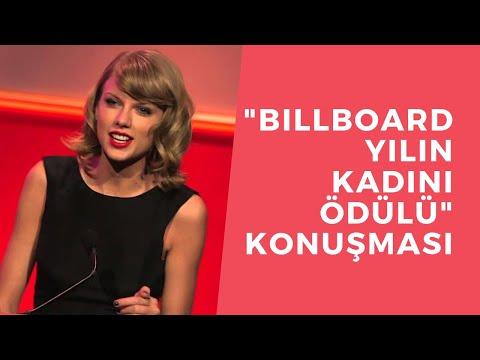 """Taylor Swift - """"2014 Billboard Yılın Kadını Ödülü"""" Konuşması (Türkçe Altyazılı)"""