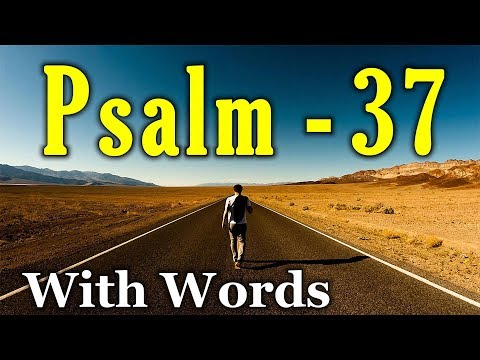 Psalm 37 - Don't Fret Because of Evildoers  (With words - KJV)