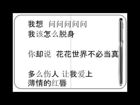 摘星怪(张伟) - 吻得太逼真(蒙面歌王)(歌词)