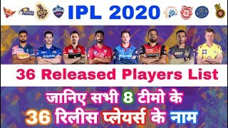 IPL 2020 - List Of All 36 Players Released By All 8 Teams Before IPL Auction | MY Cricket Production