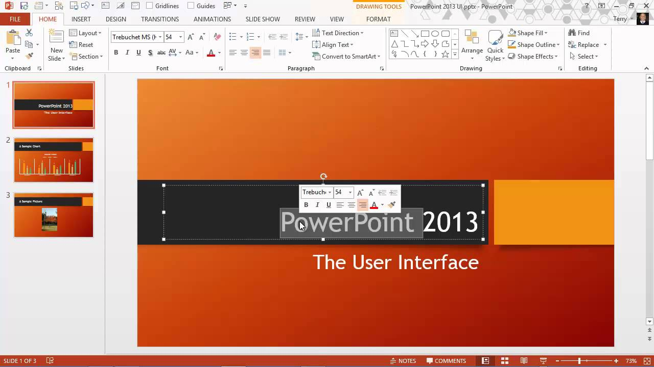 The Powerpoint 2013 User Interface Youtube