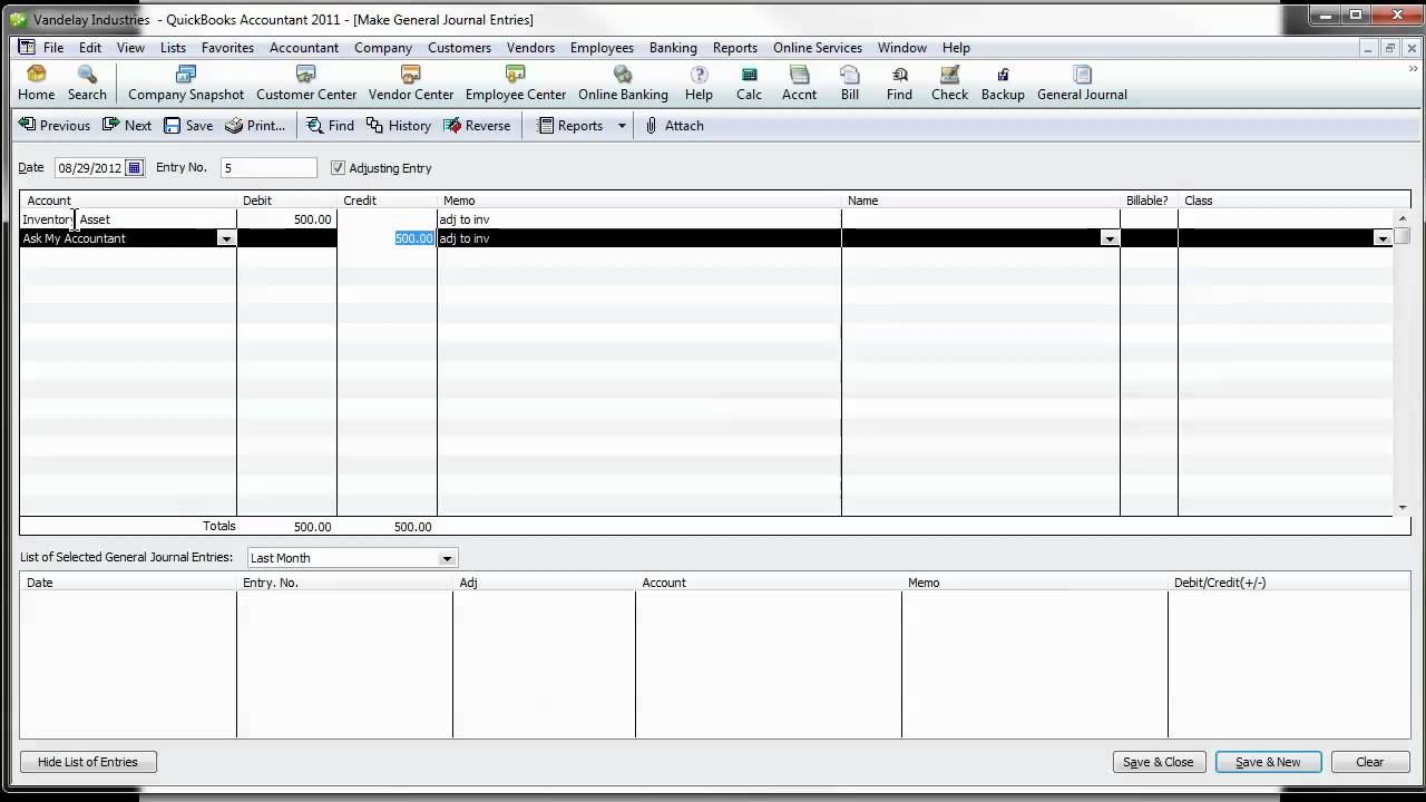 quickbooks tip  quickbooks journal entries