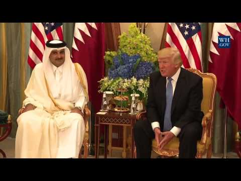 President Trump Participates in a Bilateral Meeting with the Emir of Qatar