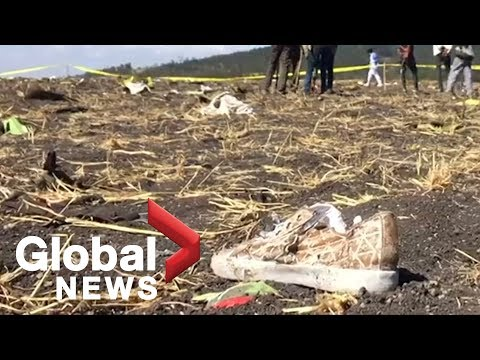 Shoes, other items found among wreckage of crashed Ethiopian Airlines flight