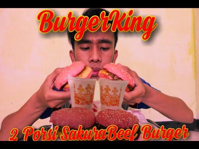 Burger King I Mukbang Sakura Beef Burger King