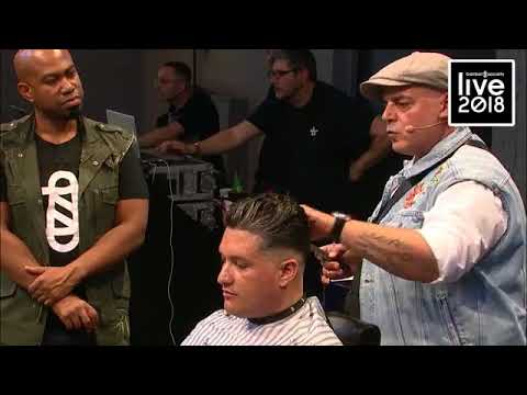 spiridon the barbershop on stage at barber society live 2018 in amsterdam