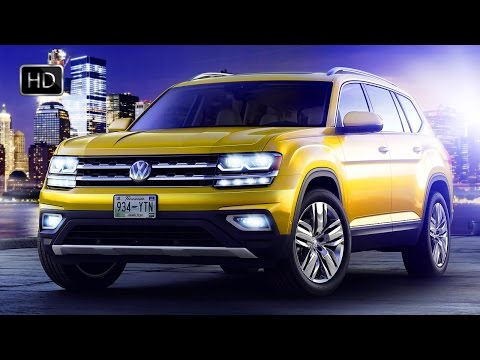2018 Volkswagen Atlas SUV Exterior - Interior Design & OFF ROAD Capabilities HD