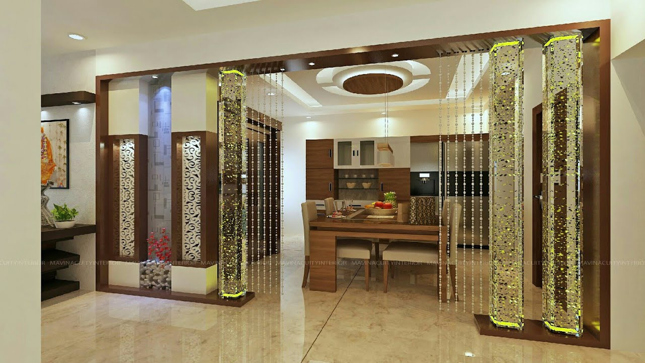 Partition design for living room and dining hall youtube for Living room partition designs in indian