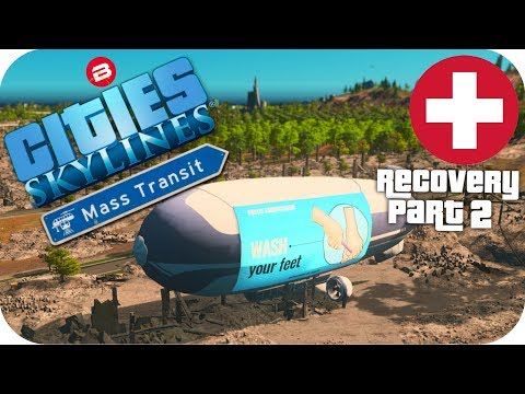 Cities Skylines Gameplay: DISASTER RELIEF AID! Cities: Skylines Mods MASS TRANSIT DLC S2 #2