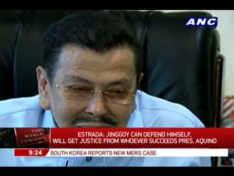 Estrada: Jinggoy can defend himself