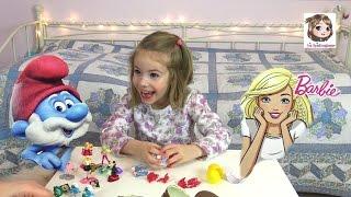 BARBIE & DIE SCHLÜMPFE 🎉 Kinder Überraschungseier | Ü-Eier Unboxing | Surprise Eggs | Spielzeugtester