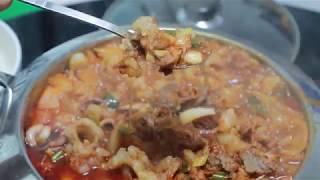 Yang soo bin) 낙지+곱창+새우+차돌박이!! 낙곱새차!!! 식감최고! 맛최고!
