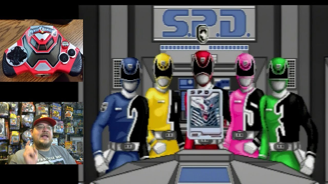 Power Rangers S.P.D. Plug & Play TV Games part 3 - Ringbah (Red Ranger) level game play