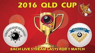 2016 Qld Cup - Men's 8 Ball Team - Sunny Coast v Gladstone 7:30pm