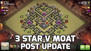 """Clash of Clans: HOW TO 3 STAR POPULAR """"V MOAT"""" WAR BASE POST UPDATE 