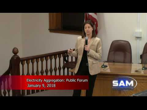 Electricity Aggregation Public Forum January 9, 2018