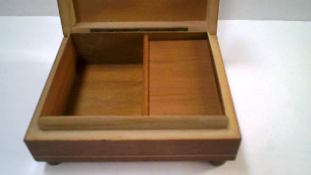 The Emperor Waltz Vintage Wooden Music BoxJewelry Box With