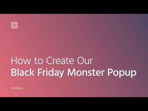 Special Black Friday Tutorial: How to Create a Monstrous Popup! 👹