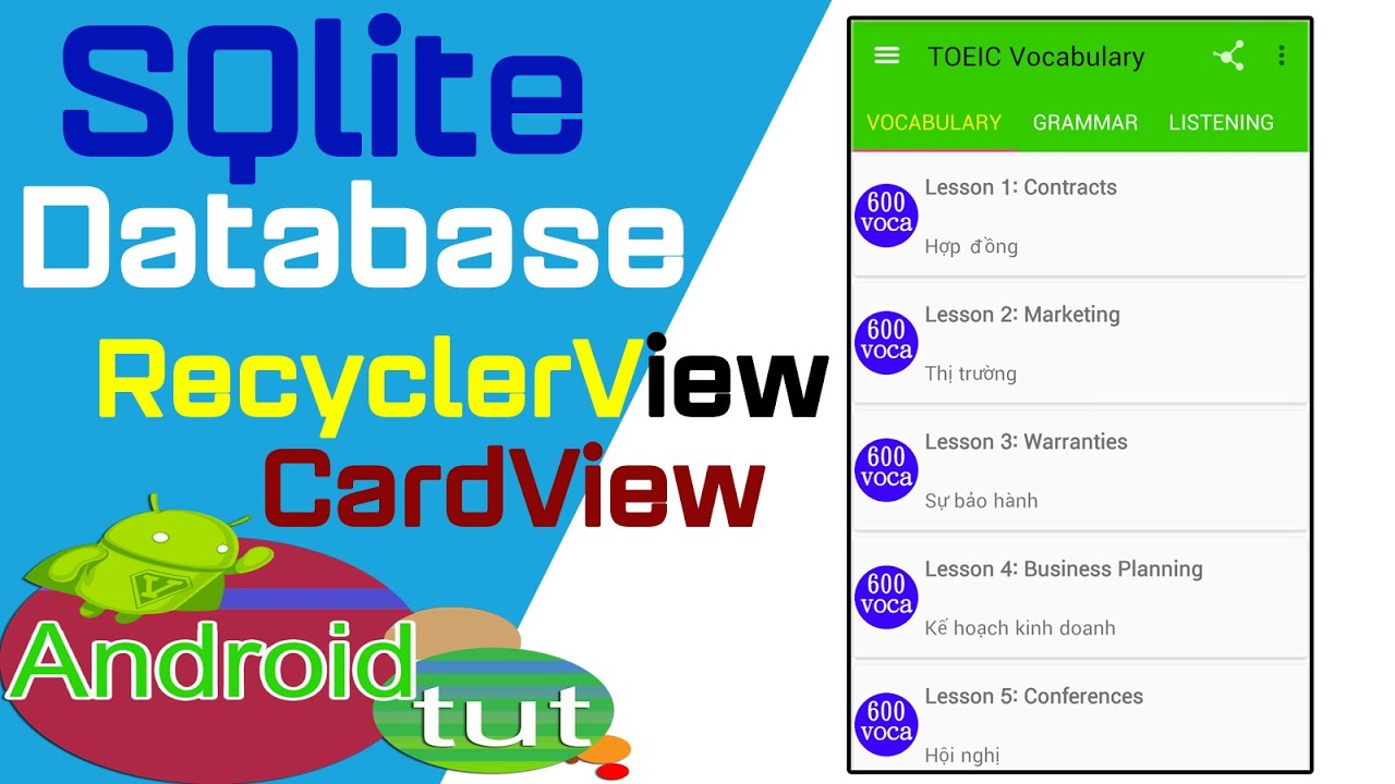Android sqlite database using recyclerview to load database android sqlite database using recyclerview to load database androidandroid tut youtube gamestrikefo Choice Image