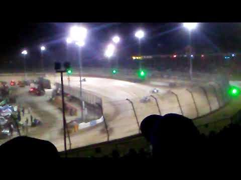 USAC non winged sprint cars Eldora speedway heat 1