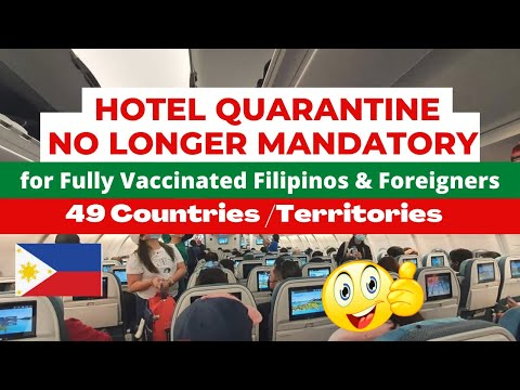 GREAT NEWS! NO MORE HOTEL QUARANTINE FOR THESE TRAVELLERS STARTING OCT 14! TEST BEFORE TRAVEL!