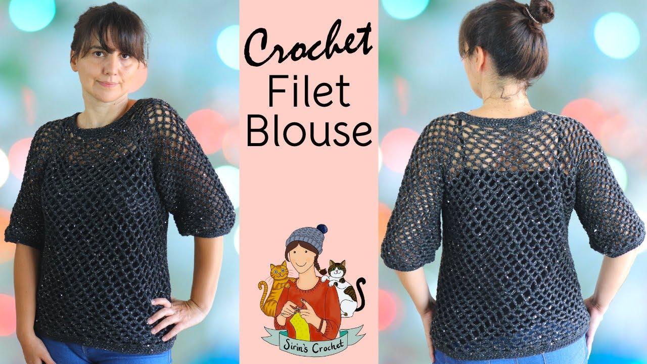 Crochet Filet Blouse / Summer Top