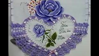 Coração dia das mães pintura e aplicação