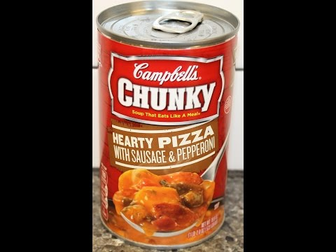 Campbell's Chunky Hearty Pizza with Sausage & Pepperoni Soup Review