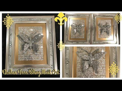 DIY - DOLLAR TREE BLING WALL ART * Featuring Beverly's Beautiful Butterflies